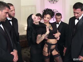 Hot secretaries fucked by their colleagues at the party.