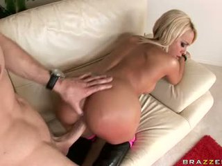 Excited Brandy Blair Rides A Thick Shaft Like A Fucking Cowgirl On The Sofa
