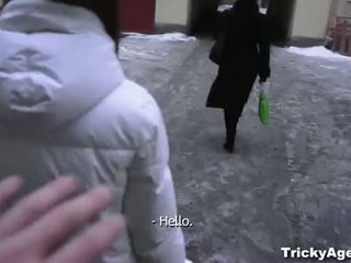 Tricky Agent: Cute teen tricked by an agent