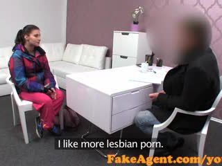 FakeAgent Brunette amateur gets ride of her life in Casting