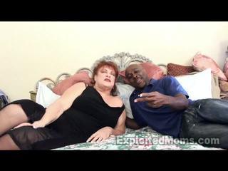 Großmutter receives bawdy cleft pounded von groß schwarz schwanz