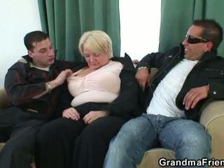 kwaliteit tieten klem, vol grote borsten vid, plezier 3some