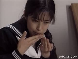 watch japanese scene, great uniform fucking, nice fetish clip