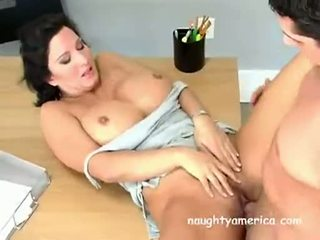 Busty Milf Babe Cynthia Pendragen Acquires Her Muff Slammed Hard On The Table