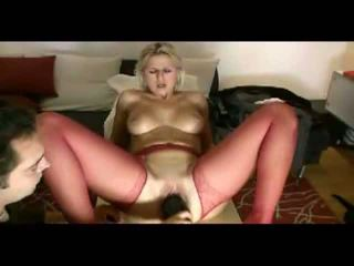Blond abielunaine loves painful penetration video