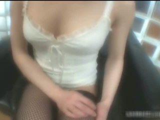 Yuuna Miyazawa In Stockings Having Fun