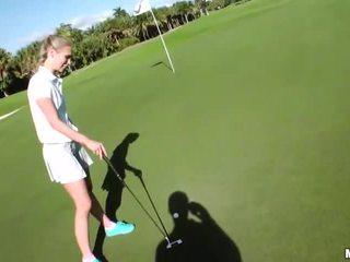 Gf dakota james played golf y follada