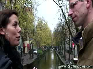 Real dutch prostitute getting hot with guy