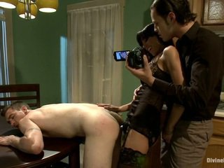 Gia fucks her husband in the ass.., while somebody fucks her