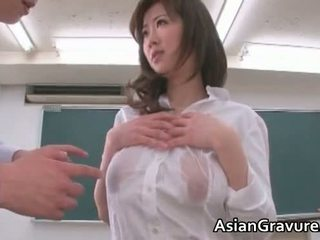Sexy And Horny Asian Teacher Shows Her