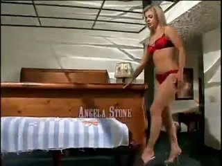Horny Angela Stone Masturbates With Dildo In Wet Pussy