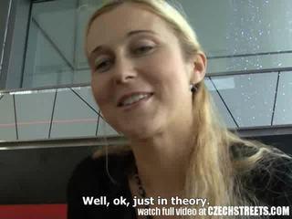 Tjeckiska streets - blondin momen jag skulle vilja knulla picked upp på gata video-