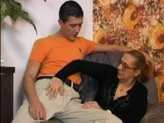Hairy Granny Takes it in the Ass