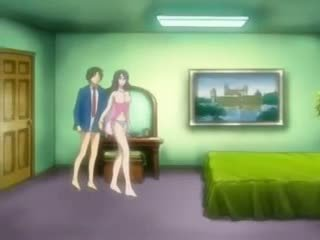 Hentai lucky boy pokes a pussy