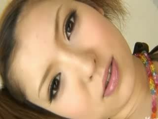 Charming asian whore sucking small cock