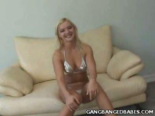 Blonde Barbara Boob Tease