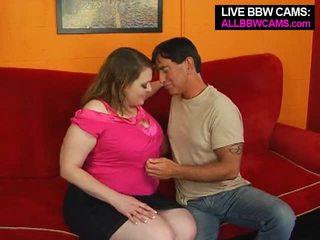 粉紅色 乳頭 大美女 他媽的 一 thin guy. 豐滿 屁股 部分 1