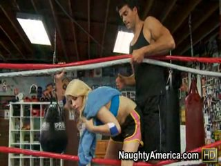 Awesome Madison Ivy Thanks Her Trainer Inside The Boxing Ring By Giving Him The Hot Fucking And Sucking.