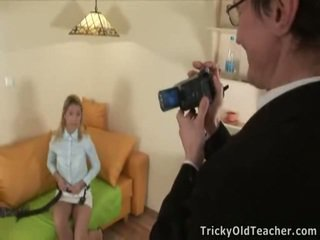 Katya Licks Her Tricky Teacher's Yonker Onto Webcam