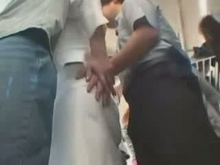 Japanese abused in public bus Video