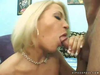 Sexy Busty Blonde Giving Blowjob