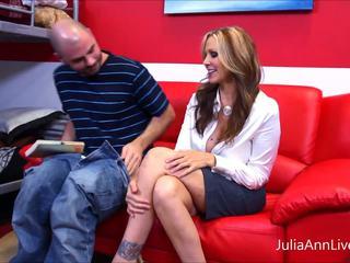 Hot Tutor!? MILF Julia Ann Makes Student Study HARD!