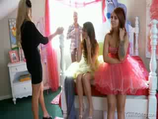 Kelly madison chick fidelity Four some group Porn Star prom night chicks group