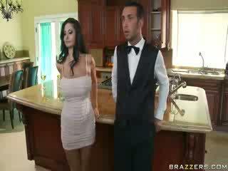 Domineering MILF who orders her butler