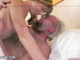 Teen doris gets hardcore sex with old hard cock