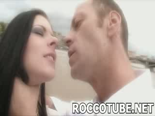 Rocco slaps a poor prostitute and spits in her face before he fucks her. Not for the faint hearted!