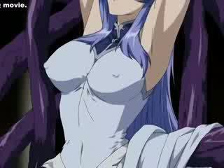 Long Fatty tentacles sliding in gal's ass