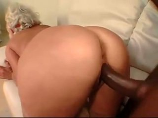 mature woman takes black cock in her ass