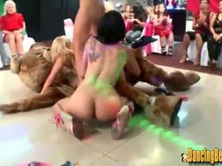 Amateur Naked Girls Make Out with Dancing Bear