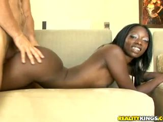 Ebony Taylor Starr get a big white dick behind