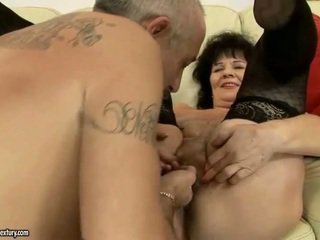 Lusty granny gets fucked rough