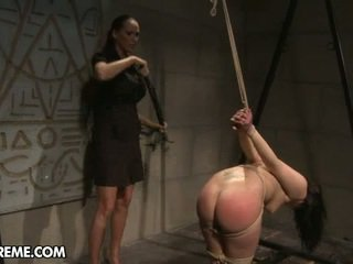 Naomie, Bound Inside A Mistress' Dungeon, Acts As Her Mighty...
