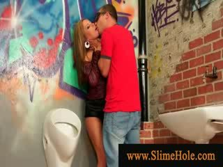 Glory hole surprises horny couple