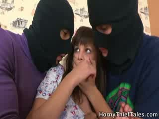 Rina looks into the eyes of her attackers while she sucks them off and makes them jizz