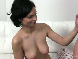 Mom aku wis dhemen jancok came to a casting where she was fucked by two guys
