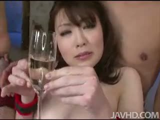 Kinky And Bound Tomoka Sakurai Drinks Her Own Girl Juice