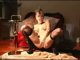 kindje video-, masturbatie, nylon