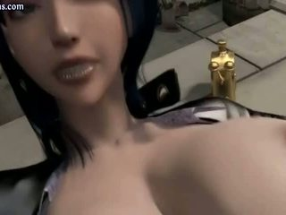 Busty Animated Slut In Latex