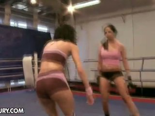 Larissa Dee And Liz Were Working Out At A Sports Hall When Liz...