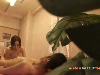 Skinny Asian massage Milf Riding her client