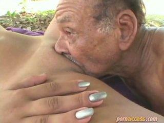 kwaliteit grootmoeder video-, oma neuken, echt oma sex actie