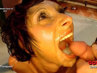 Sweet face filled with glazy jizz