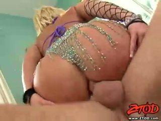 Breasty блондин georgia peach gets asspounded і gets a брудний кінчання