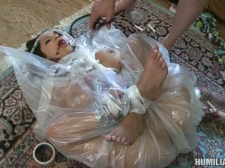 Wild Momma Sophia Lomeli Receives Herself All Fastened Up In A Plastic And Gets Fucked