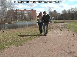 Video sex stranger meets and fucks cute bimbo Hanna