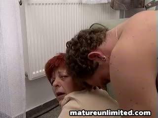 granny, glasses, sex, bedroom